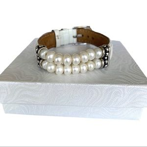 Honors Pearl Leather Bracelet